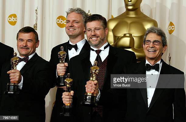 TELECAST*** Visual effects supervisors Michael Fink Bill Westenhofer Ben Morris and Trevor Wood winners of the Achievement In Visual Effects award...