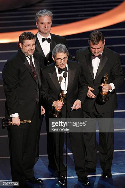 TELECAST*** Visual effects supervisors Michael Fink Bill Westenhofer Ben Morris and Trevor Wood accept the award for Achievement In Visual Effects...