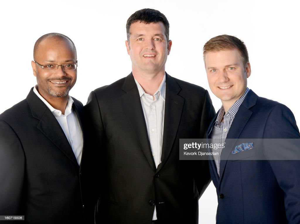 Visual Effects Supervisors R. Christopher White, Eric Saindon, and David Clayton pose for a portrait during the 85th Academy Awards Nominations Luncheon at The Beverly Hilton Hotel on February 4, 2013 in Beverly Hills, California.
