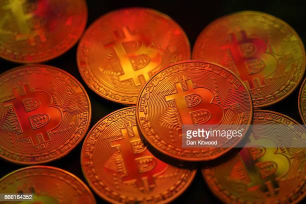 A visual representation of the digital Cryptocurrency Bitcoin on October 24 2017 in London England Cryptocurrencies including Bitcoin Ethereum and...