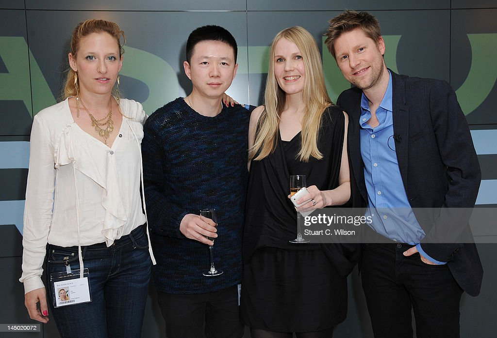 Vita Gottlieb Haizhen Wang Teija Eilola and Christopher Bailey attend a photocall to announce the finalist's of Fashion Fringe at Burberry on May 22...