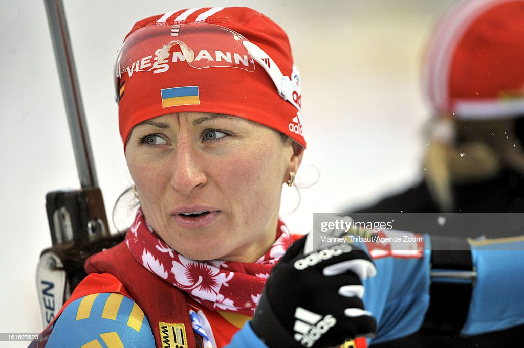 Vita Semerenko of Ukraine competes during the IBU Biathlon World Championship Women's 15km Individual on February 13, 2013 in Nove Mesto, Czech Republic.