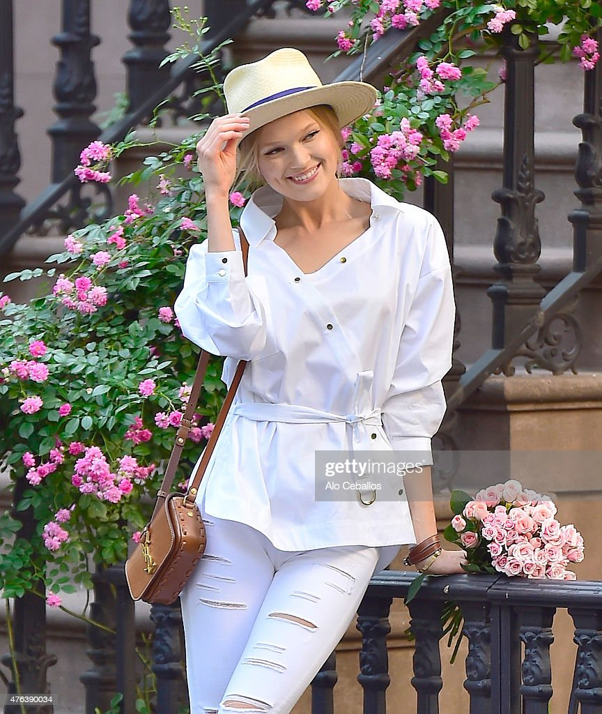 Vita Sidorkina is seen in the West Village on June 8 2015 in New York City