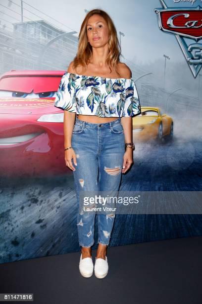 Vitaa attends 'Cars 3' Paris premiere at Gaumont Marignan on July 9 2017 in Paris France