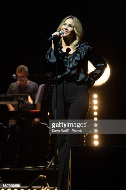 Vitaa performs during Leurs Voix pour l' Espoir at L'Olympia on October 12 2017 in Paris France