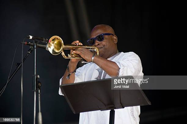 Vital Assaba of Orchestre Poly Rythmo de Cotonou perform on stage on Day 4 of Primavera Sound Festival at Parc del Forum on May 25 2013 in Barcelona...