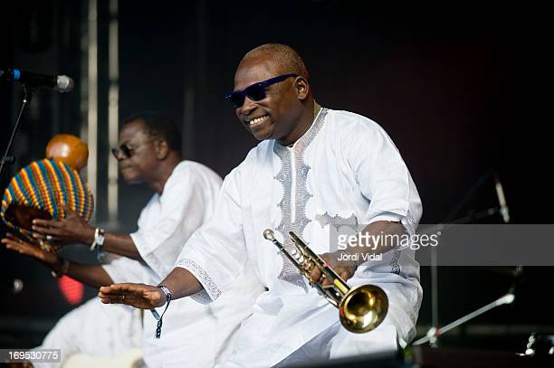 Vital Assaba of Orchestre Poly Rythmo de Cotonou performs on stage on Day 4 of Primavera Sound Festival at Parc del Forum on May 25 2013 in Barcelona...