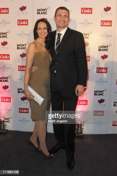 Vitali and Natalie Klitschko attend the Couple Of The Year event on April 11 2011 in Hamburg Germany