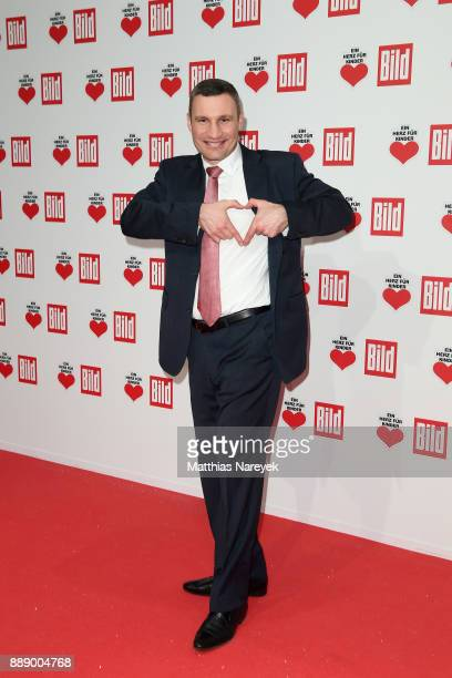 Vitali Klitschko arrives at the Ein Herz Fuer Kinder Gala at Studio Berlin Adlershof on December 9 2017 in Berlin Germany
