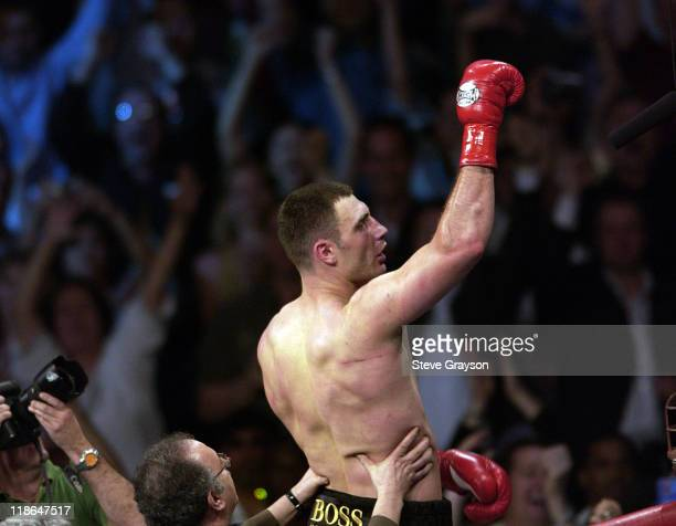 Vitali Klitschko celebrates his TKO 8th round win over Corrie Sanders in their WBC Heavyweight Championship Title Bout