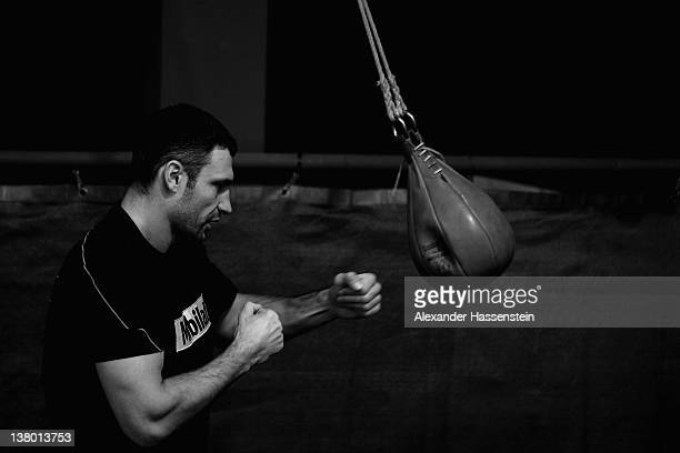 Vitali Klitschko during a training session at Hotel Stanglwirt on January 31 2012 in Going Austria Vitali Klitschko will defend his WBC title against...