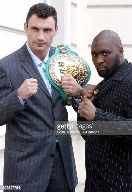 Vitali Klitschko from Kiev Ukraine who will fight Danny Williams from England for the WBC Heavyweight championship of the World title in New York on...