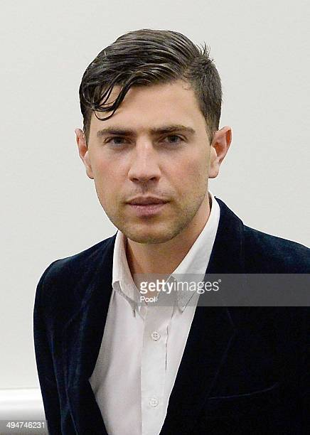 Vitalii Sediuk appears at Los Angeles Superior Court House on May 30 2014 in Los Angeles California Sediuk was arrested for allegedly assaulting Brad...