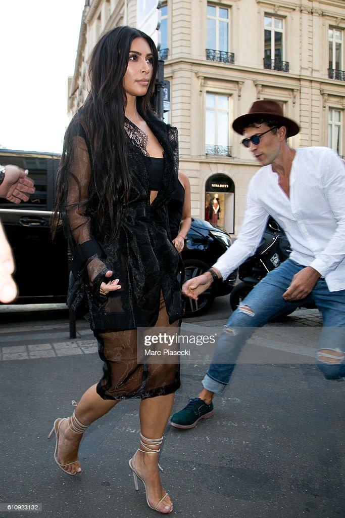Kim Kardashian Sighting In Paris - September 28, 2016 : News Photo