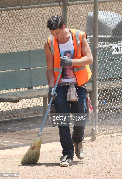 Vitalii Sediuk Performs Community Service at Griffith Park Recreation park on June 11 2014 in Los Angeles California