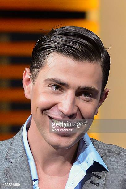 Vitalii Sediuk visits 'Extra' at Universal Studios Hollywood on June 2 2014 in Universal City California