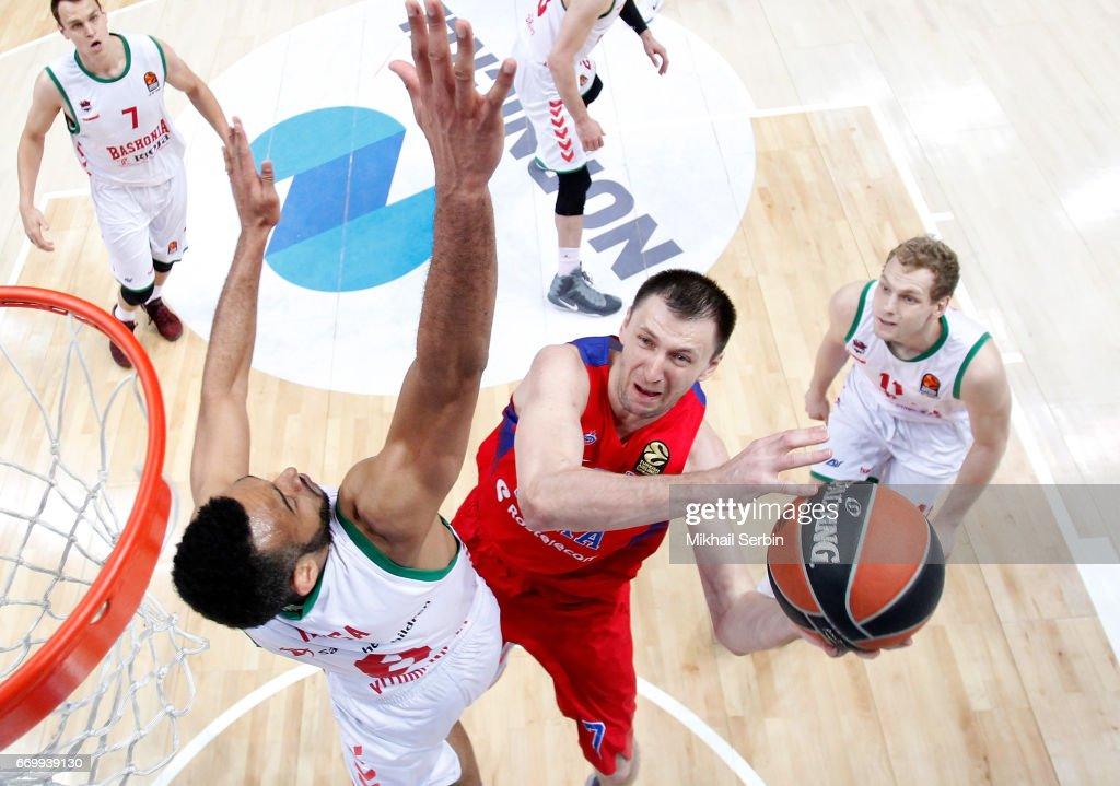 CSKA Moscow v Baskonia Vitoria Gasteiz - Turkish Airlines Euroleague Play off Leg One