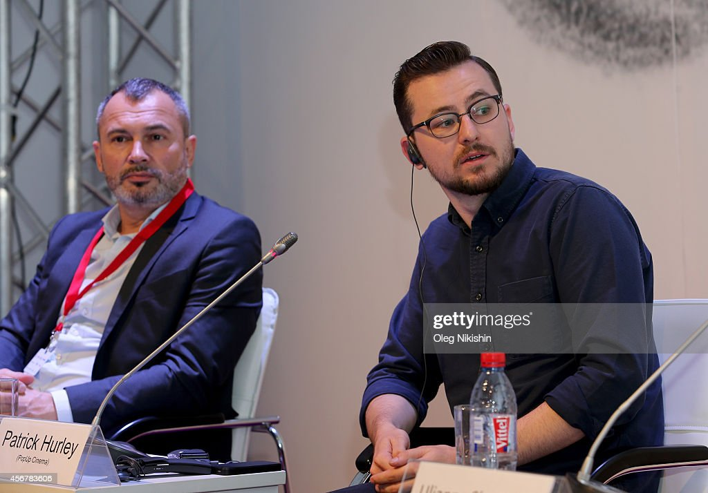 Vitaly Lomtev and Patrick Hurley attend 'Battle For VOD Market And Alternative Distribution Means' during the Saint Petersburg International Media...