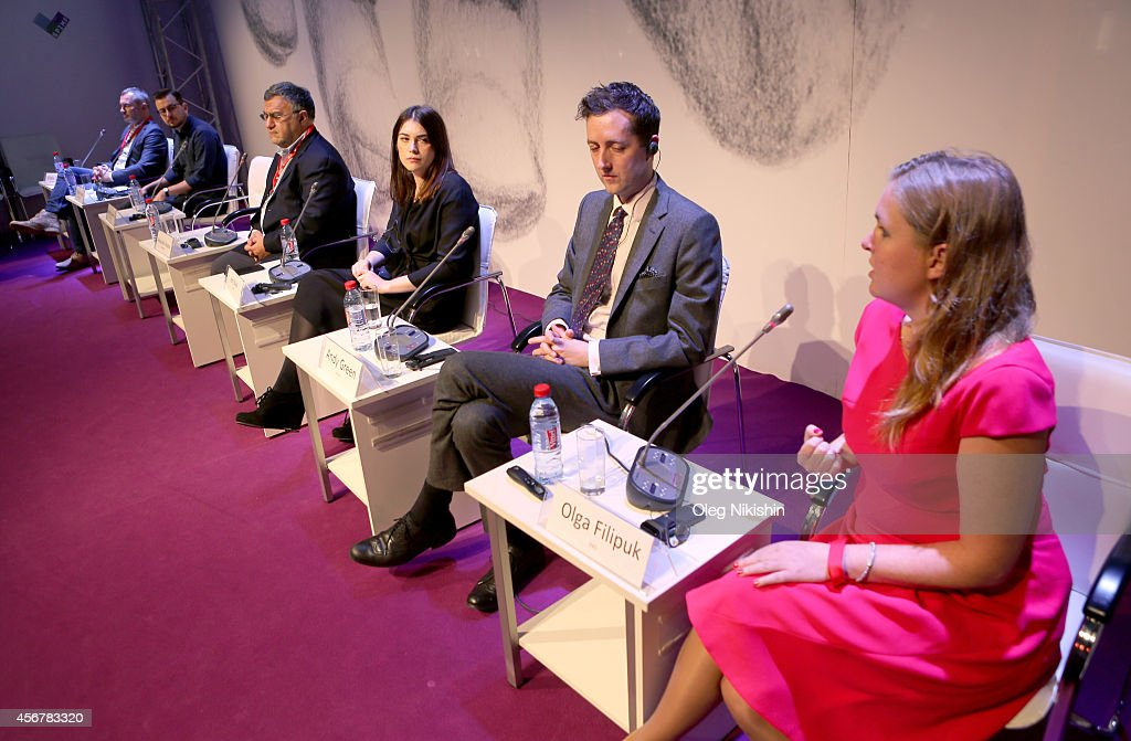 Vitaly Lomtev Patrick Hurley AMedia CEO and member of the SPIMF board of trustees Alexander Akopov Amy Basil Andy Green and Olga Filipuk attend...