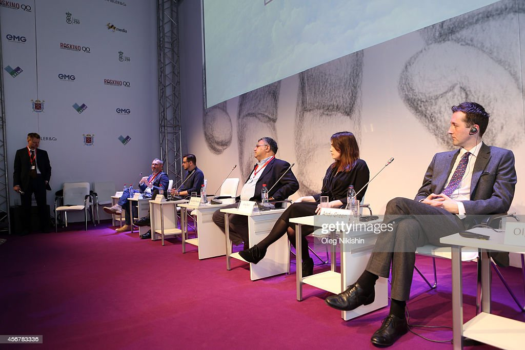 Vitaly Lomtev Patrick Hurley AMedia CEO and member of the SPIMF board of trustees Alexander Akopov Amy Basil and Andy Green attend 'Battle For VOD...