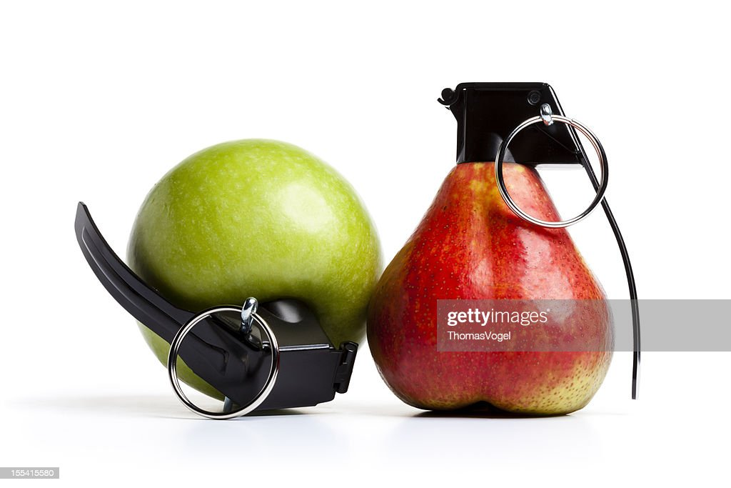 vitamin bombs apple pear grenade fruit bildbanksbilder getty images. Black Bedroom Furniture Sets. Home Design Ideas