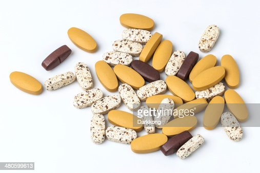 vitamin pills : Stock Photo