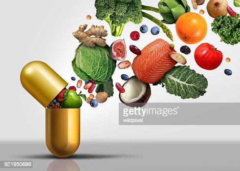 Vitamins Supplements : Stock Photo