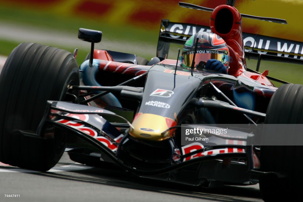 Vitantonio Liuzzi of Italy and Scuderia Toro Rosso in action during practice for the Canadian Formula One Grand Prix at the Circuit Gilles Villeneuve on June 8, 2007 in Montreal, Canada.