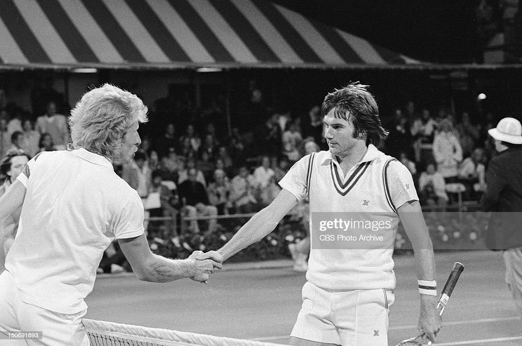 vitas gerulaitis and jimmy connors during the 1976 us open tennis tournament that took place on