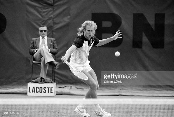 Vitas Gerulaitis lors de la demifinale des Internationaux de France de RolandGarros le 8 juin 1979 à Paris France