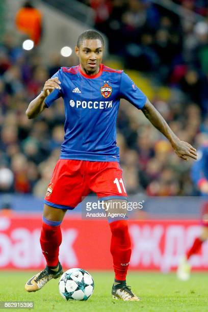 Vitinho of CSKA Moscow is seen during the UEFA Champions League Group A soccer match between CSKA Moscow and Basel at VEB Arena in Moscow Russia on...