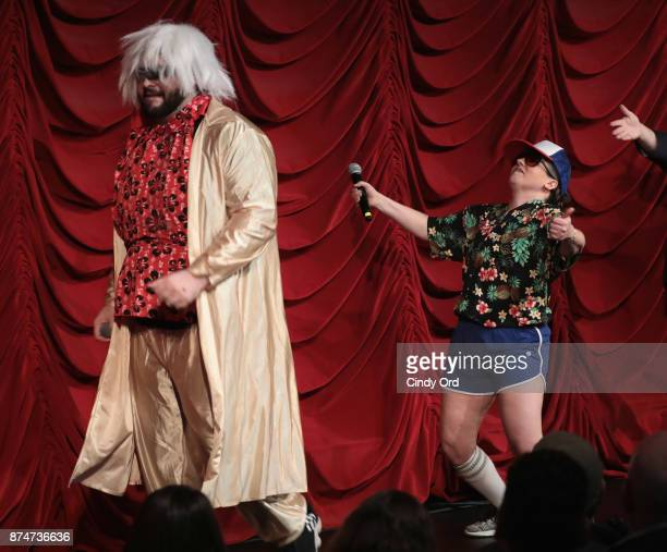 Vito Calise and Gail Bennington perform during SiriusXM host Ron Bennington's annual Thanksgiving Special at Hard Rock Cafe Times Square on November...