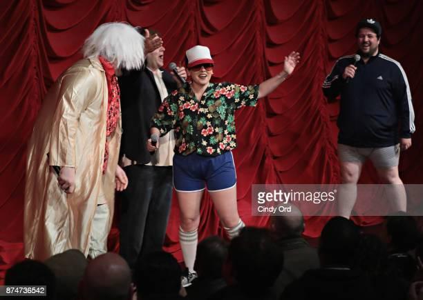 Vito Calise Ron Bennington Gail Bennington and Chris Stanley perform during SiriusXM host Ron Bennington's annual Thanksgiving Special at Hard Rock...