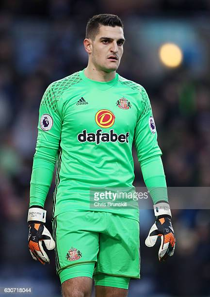 Vito Mannone of Sunderland looks on during the Premier League match between Burnley and Sunderland at Turf Moor on December 31 2016 in Burnley England