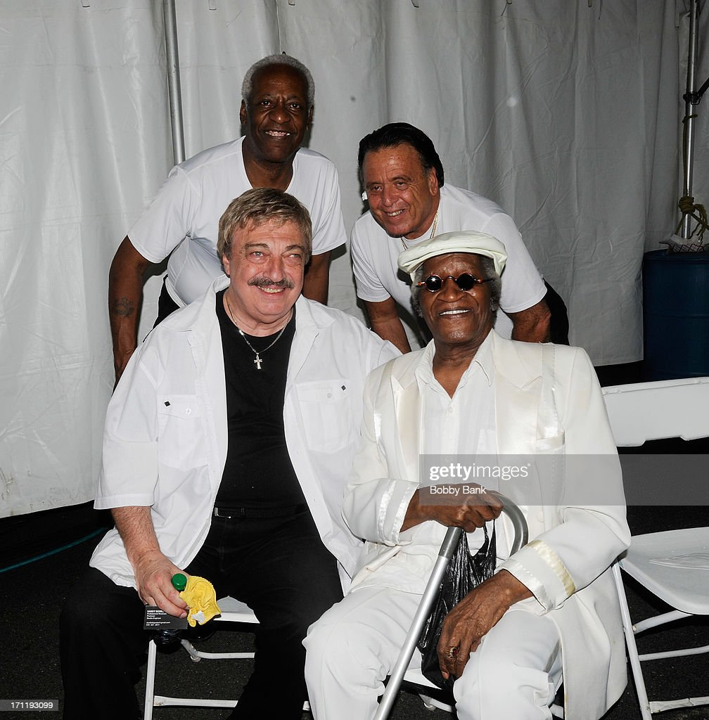 Vito Picone of The Elegants and Barry Newman, J.T. Carter and Bobby Lewis attend the Cousin Brucie's First Annual Palisades Park Reunion Presented By SiriusXM at State Fair Meadowlands on June 22, 2013 in East Rutherford, New Jersey.
