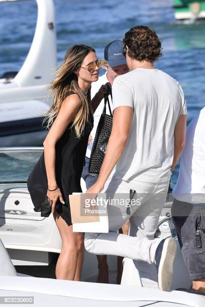 Vito Schnabel and Heidi Klum are seen on July 26 2017 in SaintTropez France