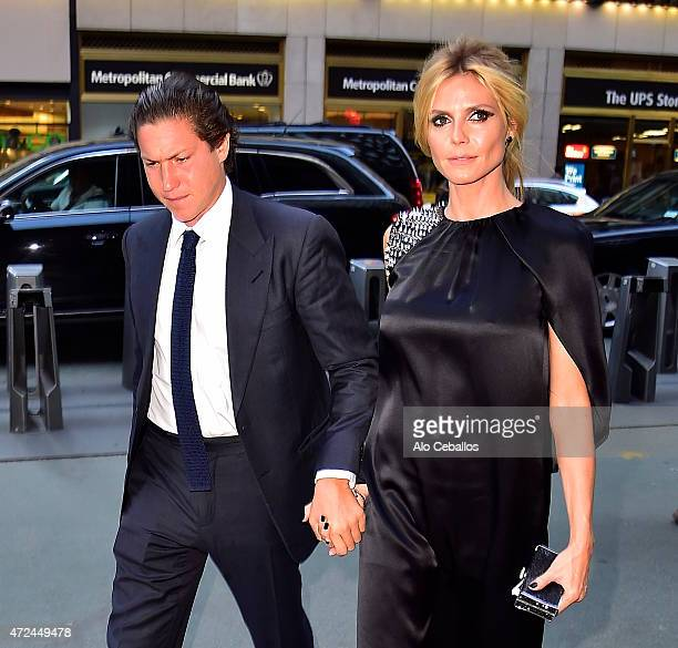 Vito Schnabel and Heidi Klum are seen on May 7 2015 in New York City