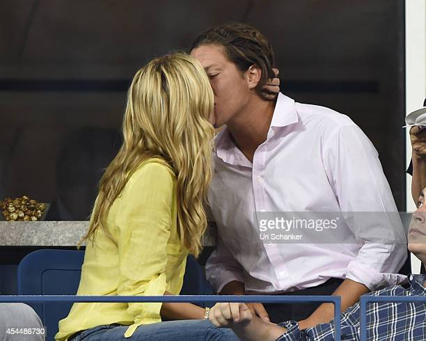 Vito Schnabel and Heidi Klum attend day 8 of the 2014 US Open at USTA Billie Jean King National Tennis Center on September 1 2014 in New York City