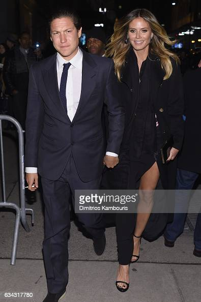Vito Schnabel and Heidi Klum attend the 19th Annual amfAR New York Gala at Cipriani Wall Street on February 8 2017 in New York City