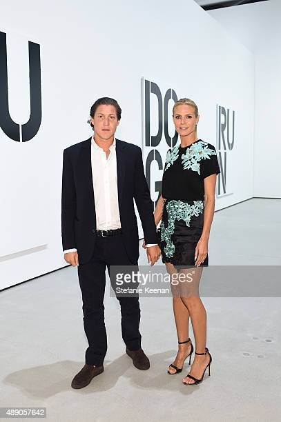 Vito Schnabel and Heidi Klum attend The Broad Museum Opening Celebration at The Broad on September 18 2015 in Los Angeles California