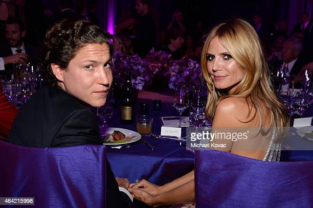 Vito Schnabel and model Heidi Klum attend the 23rd Annual Elton John AIDS Foundation Academy Awards Viewing Party on February 22 2015 in Los Angeles...