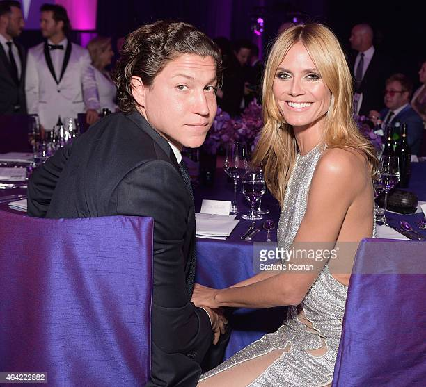 Vito Schnabel and model Heidi Klum attend the 23rd Annual Elton John AIDS Foundation Academy Awards viewing party with Chopard on February 22 2015 in...
