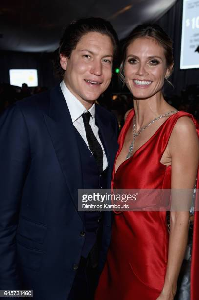 Vito Schnabel and model Heidi Klum attend the 25th Annual Elton John AIDS Foundation's Academy Awards Viewing Party at The City of West Hollywood...