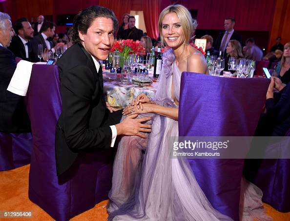 Vito Schnabel and tv personality Heidi Klum attend the 24th Annual Elton John AIDS Foundation's Oscar Viewing Party at The City of West Hollywood...