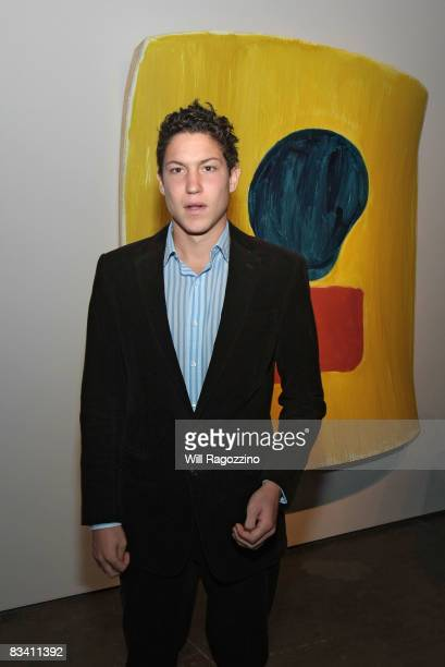 Vito Schnabel attends the opening of an exhibit by Ron Gorchov at Nicholas Robinson Gallery on October 23 2008 in New York City