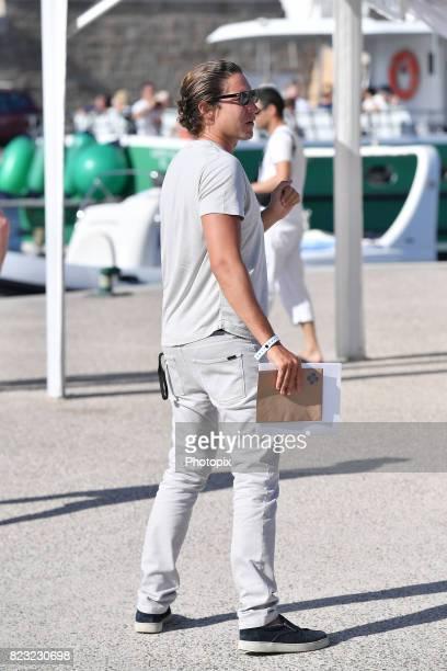 Vito Schnabel is seen on July 26 2017 in SaintTropez France