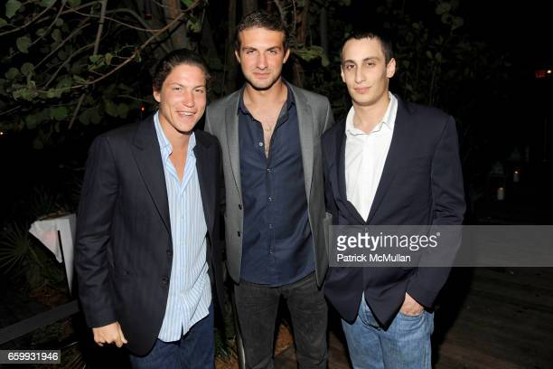 Vito Schnabel Stavros Niarchos and Alex Dellal attend ABY ROSEN PETER BRANT ALBERTO MUGRABI Dinner at W SOUTH BEACH at W SOUTH BEACH on December 3...