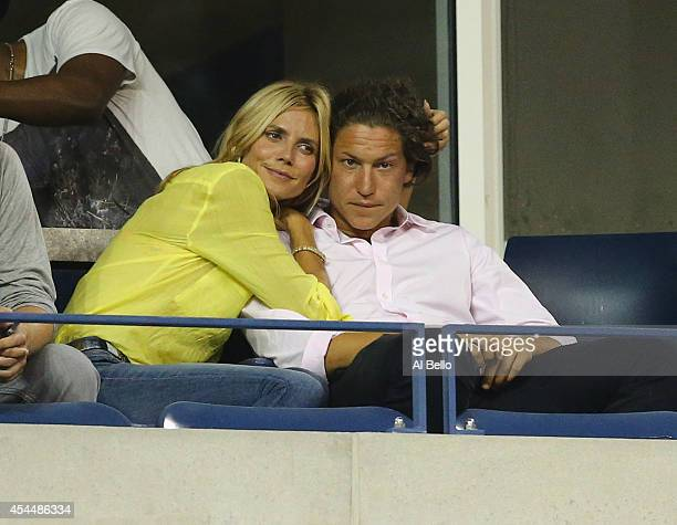 Vito Schnabel with Heidi Klum on Day Eight of the 2014 US Open at the USTA Billie Jean King National Tennis Center on September 1 2014 in the...
