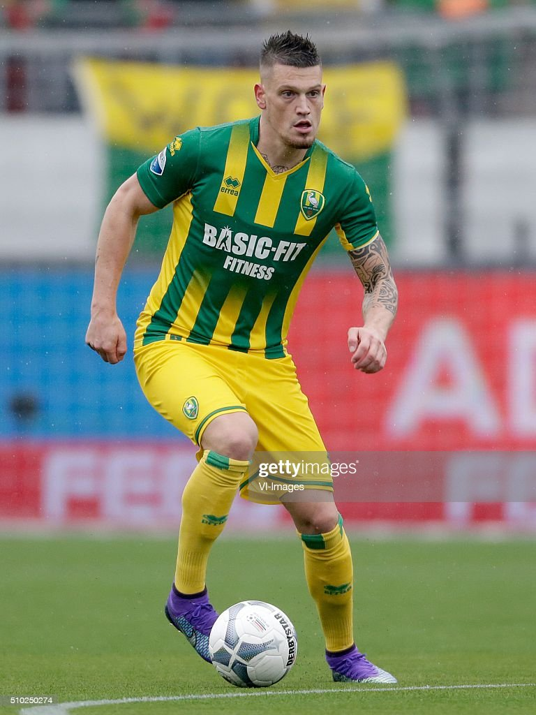 Vito Wormgoor of ADO Den Haag during the Dutch Eredivisie match between Excelsior Rotterdam and ADO Den Haag at Woudenstein stadium on February 14, 2016 in Rotterdam, The Netherlands