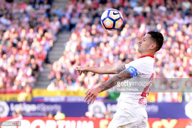 Vitolo #20 of Sevilla FC during The La Liga match between Atletico Madrid v Valencia FC at Vicente Calderon on March 19 2017 in Madrid Spain